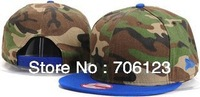 Camouflage splicing Blank Plain Snapback Hat baseball hat Fashion adjust sport caps 10pcs mix order