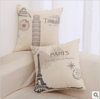 Thick fluid pillow eiffel tower sofa pillow fashion cushion