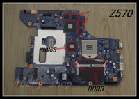 hot On sale for   LENOVO  Z570 laptop motherboard HM65 DDR3    100%Tested+Free Shipping