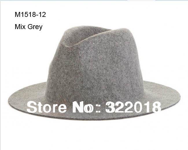 Wholesale NEW COOL Men Wool Felt Fedoras Hat Ladies Winter Plain Trilby Cap Mens Floppy Brim Hats Womens Fedora Caps Fall Spring(China (Mainland))