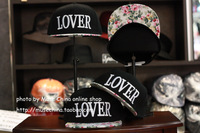 Flower lover three-dimensional embroidery cotton prints hiphop hip-hop cap