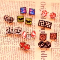 Min order 10usd Christmas Cartoon earrings High quality ! Fashion many styles design Cartoon earrings for women 2013