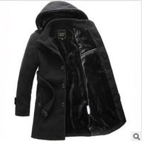 Long sections thicker longer plus size coats Mens Coat Winter Overcoat Men's windbreaker jacket thicker 2 color 5 size