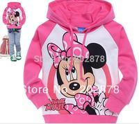 Children  1pcs kids long-sleeved t-shirt Pink Mickey Minnie Hello  As Boy  free shipping