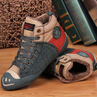 2013 winter new Korean wave of mixed colors warm thick cotton-padded shoes high help