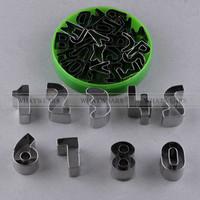 Hot Sale 35pcs Number Alphabet Letter Cake Decorating Cookie Cutter Sugarcraft Mold Tool 60-401-1
