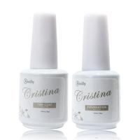 Cristina Professional 2in1 Base Coat Foundation Set Uv Led For Nail Art Uv Gel Polish Nail Tools Kit Manicure