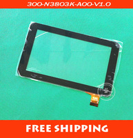 Free shipping 7 inch touch screen, 100% New touch pad for Ployer MOMO9,Tablet PC touch panel digitizer 300-N3803K-A00-V1.0