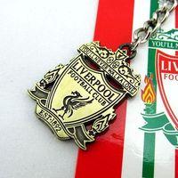 Fans supplies souvenir of the besteuropean english premier league liverpool bronze double faced sculpture keychain