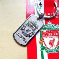 Free shipping Supplies souvenir of the besteuropean english premier league liverpool sculpture steel keychain