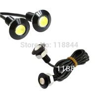 2PCS 9W LED DRL Daytime Eagle Eye Car Fog Reverse Backup Parking Signal Lamp Light For VW Ford Toyota Free Shipping