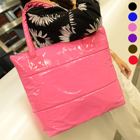 2013 women's handbag down bag winter space bag vintage bag shoulder bag casual cotton-padded jacket bag