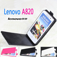 High Quality Lenovo a820 Leather Case Up Down Open Cover Case For Lenovo a820 Moblie Phone Free Shipping BW