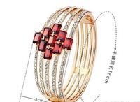 Fine jewelry Louvre luxury aaa Austrian crystal bangles for women