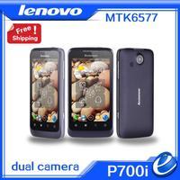 "Original lenovo p700i big battery 2500mah MTK6577 dual core 4.0"" IPS cellphone 4GB GPS 3G dual camera android phone Russian"