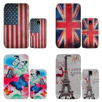 New arrival! Printing shell For Galaxy Note 3  n9000 Leather flip case with credit card holder & stand for Note 3