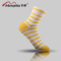 Free Shopping Mona casual female socks candy color stripe sock breathable sports combed cotton sock slippers thin