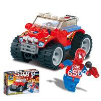 Enlighten store sales 6004 toys educational Spider Man kazi police car DIY toys building block sets,children toys free Shipping