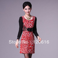 2013 plus size autumn long-sleeve slim dress gold velvet high quality Big XXXL luxury new fashion 2013 casual girl lace dress