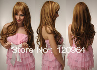 Wholesale Imitation human made high Mother Stylish Long Wavy Arrival Fashion Part Wig,Length Hair Wigs 28inch High Quality