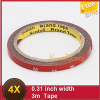 3M Tape Double Foam Sided Sticker 8mm Adhesive Acrylic Automotive Vehicle free shipping