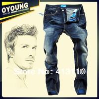 29-40#Blue#JY9137,New 2014 Italian Brand Men's Jeans,Original Fashion Warm Plus Size Straight Slim Whisker Perfume Jeans Men
