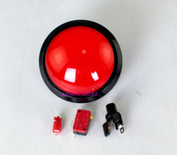 1 PCS/lot Red Arcade Large Coin-operated amusement machine 100mm Push button For Dj Game Machine  Push Button