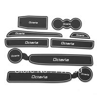 Skoda octavia gate slot pad car sticker non-slip mat anti-slip pad auto accessories 8pcs 3color