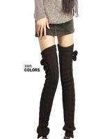 Fashion Winter Leg Warmers for Women Thicken Knit Crochet Autumn Winter Boot Socks 65CM