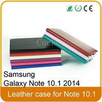 Leather Case For Samsung Galaxy Note 10.1 2014 EditionTablet (With Smart Cover Auto Wake / Sleep)