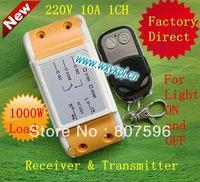 Hot Selling AC 220V 10A 1 CH RF  Wireless Remote Control Switch Board & Remote Control