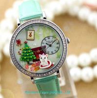 New Creative design Mini Polymer clay quartz Watch, hand made watch romantic Ladies Crystal Diamond Watches High quality