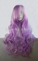 Free Shipping 80cm Long Wavy Violet Anime Cosplay Costume Wig BW011