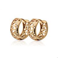 2014 Hot Selling,18K Gold Plated Hoop Earrings For Women, Free shipping ( KUNIU ER0453)