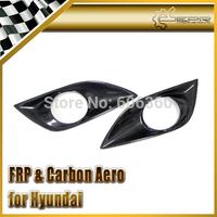 FOR Hyundai Veloster Carbon Fiber Front Fog Light Cover Gamma Turbo TCi GDi MPi 2pcs