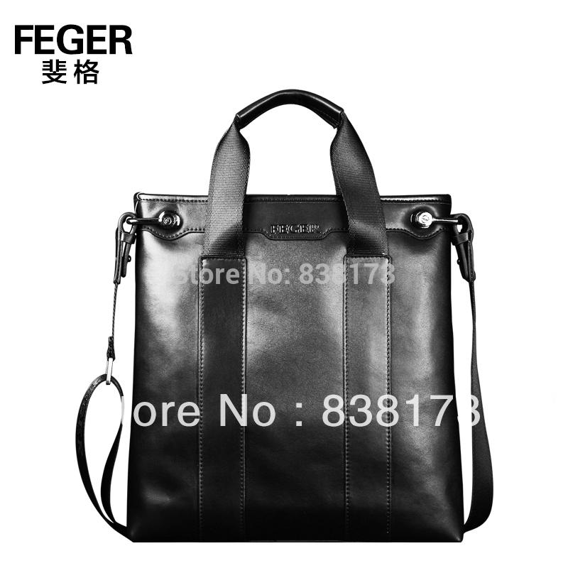 High fashion designer brands men handbag,genuine leather shoulder bag black and brown,man travel bags mens satchel,free shipping(China (Mainland))
