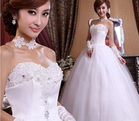 2013 Weding Dress Sweetheart Rhinestone Quality Crystal Dress Ball Gown Plus Size Wedding Dress Custom Made
