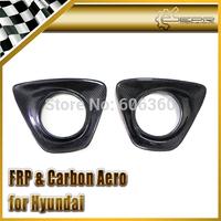 FOR Hyundai Veloster Carbon Fiber 2PCS Rear Fog Light Cover Gamma FIT Turbo Only TCi GDi MPi