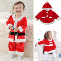 2013 Christmas autumn and winter baby romper bodysuit male style costume 0 - 3