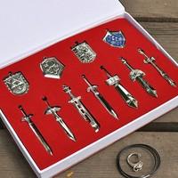 Legend of Zelda Metal Shield Sword Blade Weapon Set-11pcs