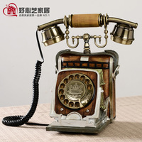 Antique telephone sitting telephone personalized decorations telephone camera telephone