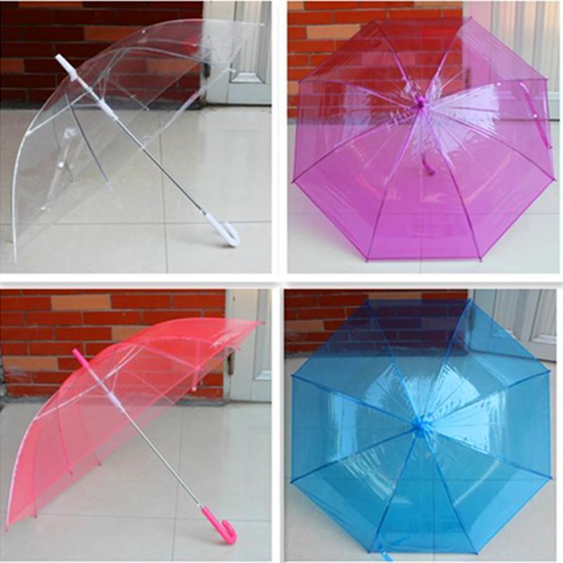 Fashion plus size 5 overstretches multicolour umbrella transparent umbrella straight transparent umbrella(China (Mainland))