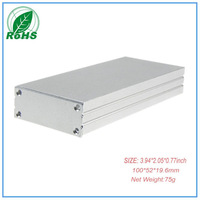 Enclosure aluminium  extrusion project box china eletronic enclosure 100*52*19.6mm 3.94*2.05*0.77inch
