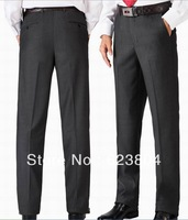 Brand  Wrosted Men's Dark Gray Fashion Casual Slim Tuxudo Suit Pants