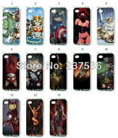 2013 Hot  free shipping New 13pcs/lots wholesale Jenny Parks style hard white case cover for iphone 5 5th 5S