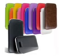 Free Shipping Leather PU phone bags cases 13 colors Pouch Case Bag for nokia c7 Cell Phone Accessories bag
