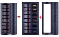New AF- 8 Gang Car Boat 12V/24V Rocker Switch Panel W/ LED Indicators Auto Fuses