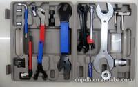 Folding bicycle repair tools