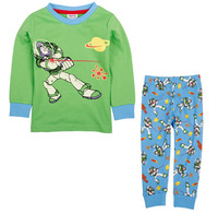 HOT SALE! Free shipping 5 sets/lot boy's long sleeve home wear & sleep wear with fireman pattern