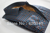 The New Winter And Cashmere Thickened Man Warm Shirt Lattice Shirt Leisure Plaid Long Sleeve Shirt XS-XXXL